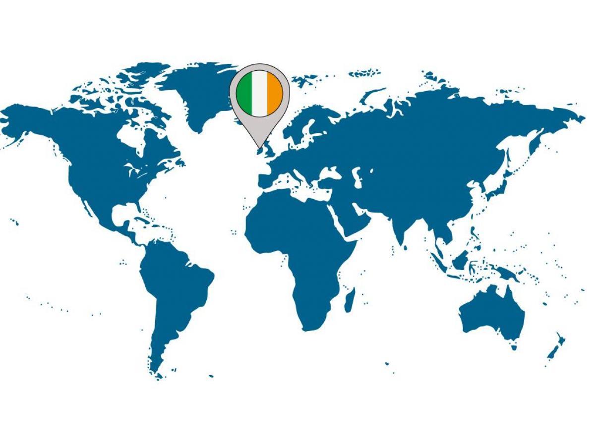 Karta Varlden Europa.Irland Plats Pa Varldskartan Irland Pa Karta Av Varlden Norra